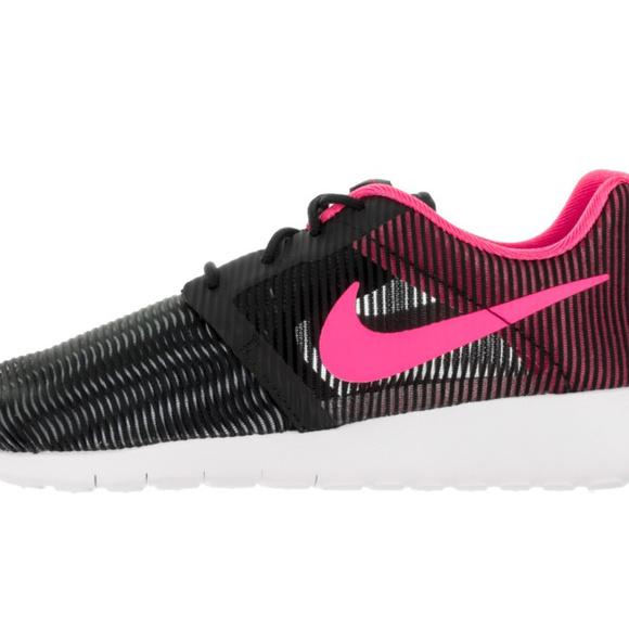 Womens Nike Roshe One Gs Black Pink Blast White Training